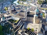 Bildtext: Das neue DomQuartier Salzburg im Herzen der Altstadt. © DomQuartier – HG Esch